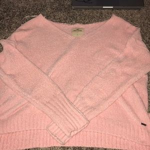 Hollister off the shoulder oversize crop sweater